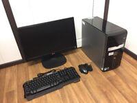 Gaming Computer PC Complete Setup, with 22 inch Monitor (Intel i7, 12GB RAM, 1TB, Radeon Graphics)