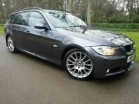 BMW 320D M SPORT EDITION TOURER 2008*PRIVATE REG*FSH*TOP SPEC*LEATHER*NAVIGATION*I-DRIVE*MINT CONDN*