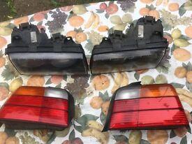 Bmw E36 Saloon Headlights and Tail lights