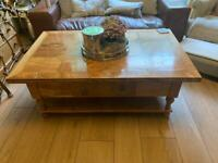 Hide heavy coffee table . Quality item