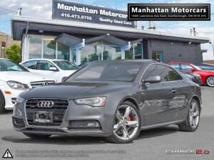 2013 AUDI A5 2.0T QUATTRO S-LINE  6 SPEED PANO PHONE NOACCIDENTS