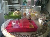 Hamster cage, Accessories, & some bedding/food