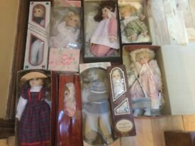 A collection of porcelain dolls vintage rare and collectible