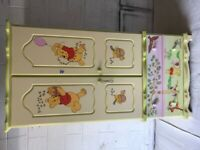 Winnie the Pooh - Wardrobe, Changing Table & Shelf by Chartley Bedrooms