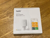 £120 Tado Smart V3+ Radiator Thermostat Starter Kit - Vertical - White