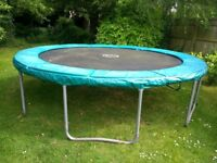 TP 12ft trampoline with surround and cover.