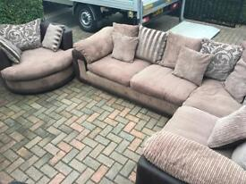 Dfs corner suite and swivel chair