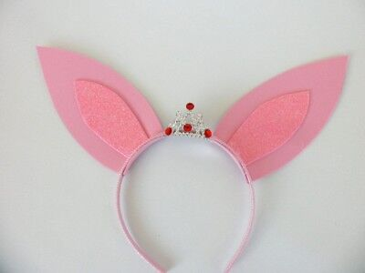 Olivia Pig Ears Crown, Tiara, Birthday Party, Costume, Halloween (Halloween Pig Ears)