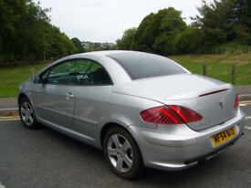 Peugeot 307 coupe convertible .1.997 cc 2004 77.000 milles full history,