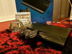 PS3 LATEST SUPER SLIM 500GB + GAMES