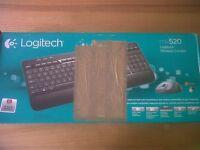 Brand new Logitech wireless keyboard and mouse
