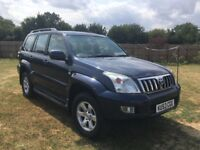 Toyota landcruiser 3.0 d4d lwb 8 seater met blue manual gearbox absolutely immaculate
