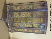 hand decorated display cabinet