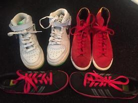 Selection of size 4 ladies trainers