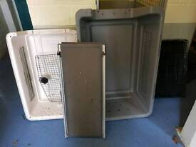 Dog crates and ramp for sale