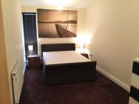 Faux Leather Double bed + mattress