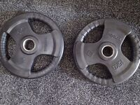 Bodymax Olympic Rubber Radial Weight Plates - 15kg x2 CHEAP!