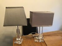 Two silver lamps for sale