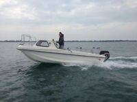 Wilson flyer 17 foot cathedral hull boat