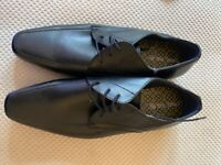 Next Black Leather Shoes Size 8 UK 42 EU - Brand New
