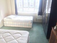 Nice Twin Room in Clapham in Zone 2
