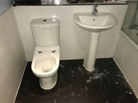 Toilet and Basin Including Mixer Taps (Good Condition)