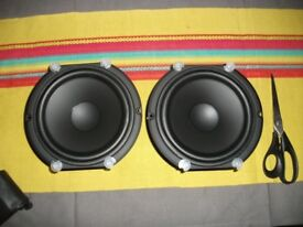 2 X PEERLESS SPEAKERS NEW DRIVERS 165 mm 6.5""