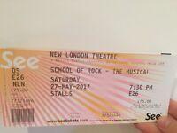 'School of Rock' tickets - Saturday 27 May - threaten in Covent Garden *premium seats*