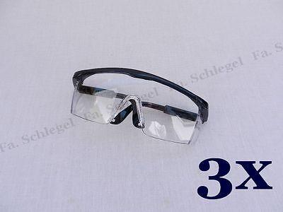 3x Schutzbrille Laborbrille Brille Arbeitsbrille Arbeitsschutzbrille Augenschutz