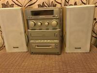 Panasonic cd minidisc cassette player with speakers