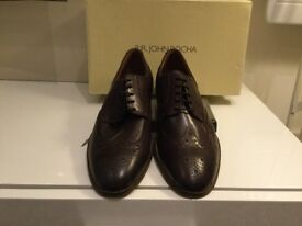 John Rocha men's lace up brown broughes New pair of shose in original box and packaging