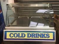Large 240v Cold Display Light Up Sandwich Chiller Glass Display Unit Catering Cafe