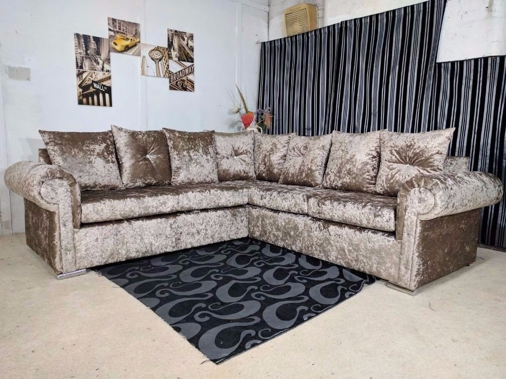 """BRAND NEW COSY GLP CRUSH VELVET UNIT/3+2 ON SPECIAL OFFER """"EXPRESS DELIVERY"""""""