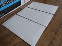 Wickes White Ceramic Bevelled Metro Tiles 15sq m