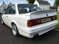Alpine White 1990 BMW E30 with E36 328i Engine Conversion