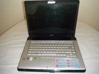 "Toshiba Sattelite 15"" Laptop Intel Core 2 Duo Spares or Repairs"