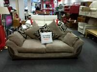 2 seater sofa upholstered in brown fabric - British Heart Foundation sco39426