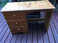 PINE / PINE EFFECT DRESSING TABLE OR DESK - CAN DELIVER