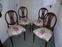 "Dining Chairs- set of 4 in Laura Ashley"" Wisteria Cranberry"""