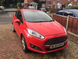 2015 (65 plate) Ford Fiesta Zetec 1.25 petrol Manual, 7000 miles, only 9 months old!