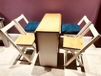 Modern dining table with 4x chairs / breakfast bar