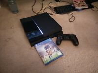 500gb PS4 console with 1 controller and FIFA16