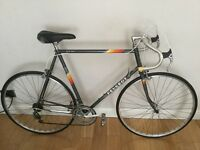 "Vintage Peugeot Pro-AM extra large 25""(63cm) road race bike gun grey"