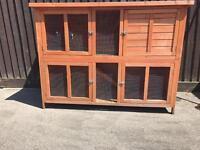 Large rabbit/Guinea pig 2 storey hutch. Excellent condition.