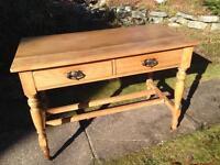 Antique solid pine drop leaf table