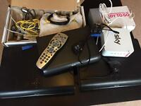 Sky HD Boxes, Broadband box and misc wires bundle