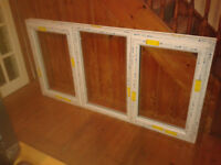 new upvc window with opening lights and double glazed glass