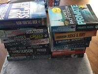 A selection of James Patterson books good condition