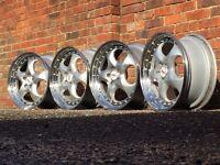 Rial deep dish alloy wheels, split rims, 5x100, Vw Golf Vr6, Golf mk4, corrado, bora audi a3