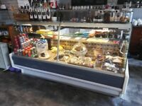 Zoin Hill Deli serve over curved top chiller 2000mm